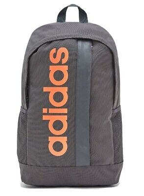 Adidas Linear Core Training Backpack - grey with orange logo. DT4825