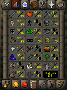 Selling Level 122 Oldschool Runescape Account! Over 1750 Total