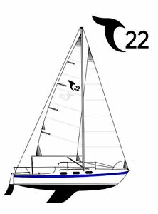 Tanzer 22 sailboat with  3 sails, and Autohelm