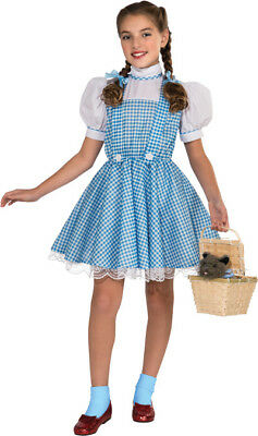 Girls Child WIZARD OF OZ Deluxe Dorothy Cotton Dress Costume (Girl Wizard Costumes)