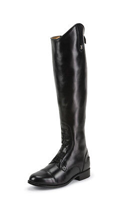 Justin English Saddle Riding Black Leather Tall Field Horse Show Boots All -