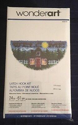 Wonderart Latch Hook Rug Kit Half Round Welcome Home Mat 426215