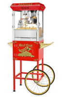 The Superior Popcorn Company Hot and Fresh Red Cart for Rent