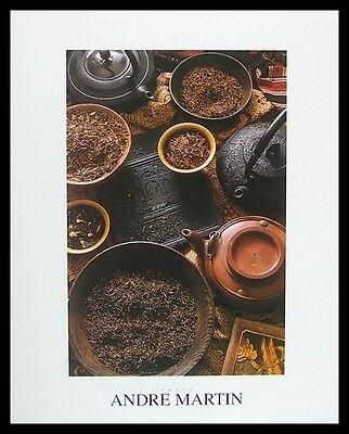 Andre Martin Der Tee Poster Bild Kunstdruck mit Alu Rahmen in schwarz 40x50cm