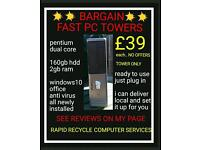 PC COMPUTER DESKTOP TOWERS, DELIVER&SETUP..READY2USE