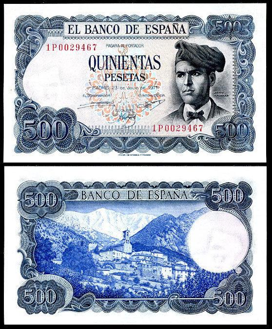SPAIN 500 PESETAS 1971 P 153 XF