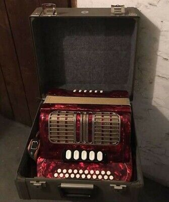 Accordion Hohner Corona III RED STRAPS HOHNER