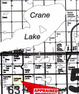 Building lots Crane Lake AB