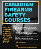 Canadian Firearms Safety Courses: Private Classes: Brandon Area