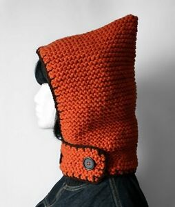 Hand-knit Winter Hood + Neckguard 2-in-1 [open ad to see more!]