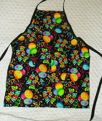 Happy Birhday Design Homemade Child Size Apron
