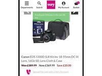 Canon EOD 1300 DSLR digital camera