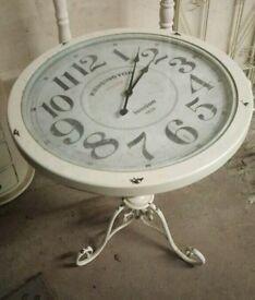 Unique Vintage Clock Table