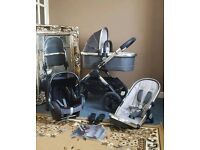 Icandy peach 2016 truffle 2 pushchair with carrycot and maxi cosi car seat