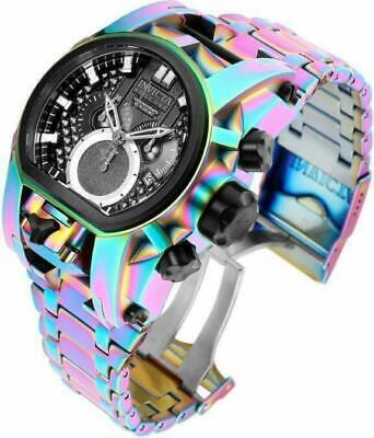 INVICTA Reserve Bolt Zeus Magnum Dual Time Watch Iridescent Case! NEW 25212
