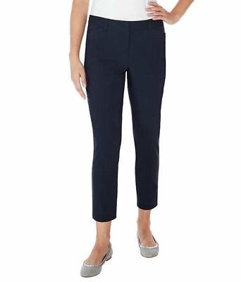 Mario Serrani Women Comfort Stretch Pants w/ Tummy Control - Navy Blue - Size 6 (Navy Stretch Pants)
