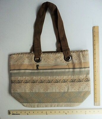 Stone Mountain Company Purse Hand Bag Style Tote Cream Aztec - FLASH SALE](Canvas Tote Bags Cheap)