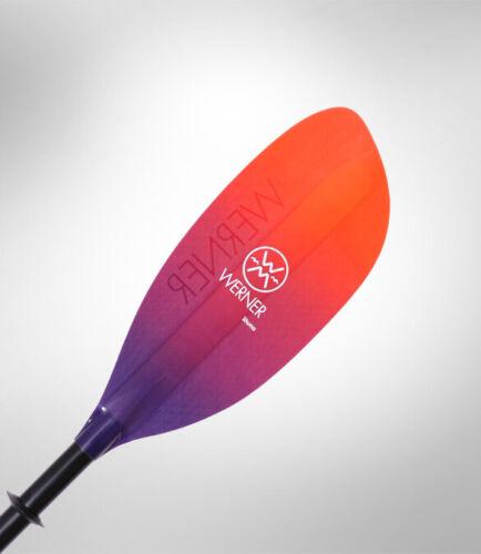 Werner Shuna Premium Carbon Performance High Angle Paddle 2 pc Straight Shaft