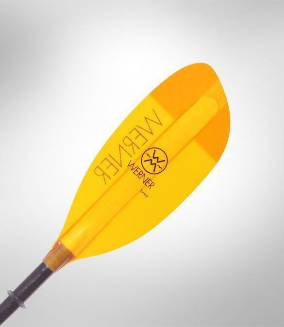 Werner Paddle Shuna 2 pc High Angle (Carbon Shaft/Fiberglass Blade) Amber