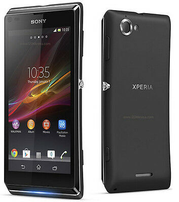 New Original Unlocked Sony XPERIA L C2105 8GB Smartphone 8MP GSM Black