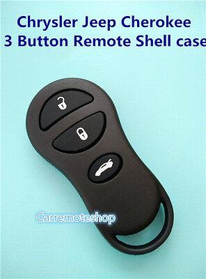 Chrysler Jeep Cherokee 3 Button Remote Key keyless entry Shell case
