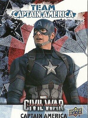 2016 Upper Deck Marvel Captain America Civil War Team Captain America Bio Cab1