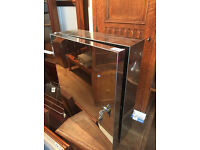 Mirrored Cabinet , with lock and key. sizes L 14 in D 6 in H18 in
