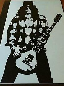 Guns N Roses Slash Vinyl Sticker