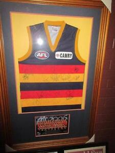 Premiership Framed posters. Signed 2006 teamCrows Guernsey Framed Uleybury Playford Area Preview