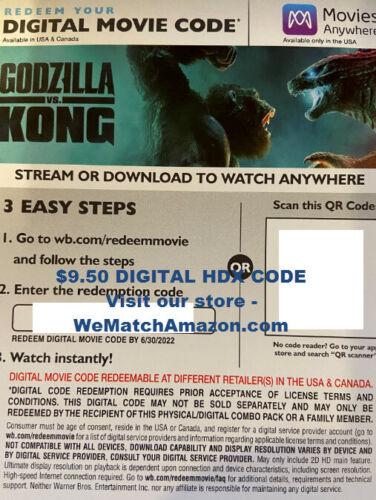 Godzilla vs. Kong HDX Digital ONLY