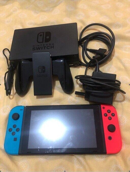 Nintendo Switch Neon Red Mario Kart 8 Deluxe Bundle No Box In Rhondda Cynon Taf Gumtree
