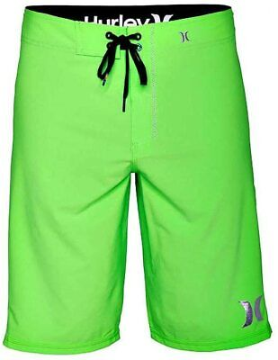 HURLEY PHANTOM 30 SOLID BOARDSHORT NEON GREEN MENS SALE BRAND NEW WITH TAGS