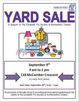 Huge yard sale for Elizabeth Fry Society