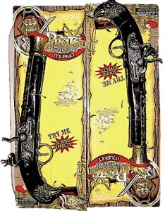 Toy Pirate 2x Guns Dual Matchlock Musket Pistols Gun Play Set Safe