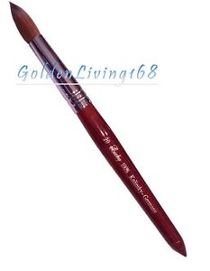 Watercolor or Calligraphy Kolinsky Red Sable Brush Round 8 10 12 14 16 18 20 22