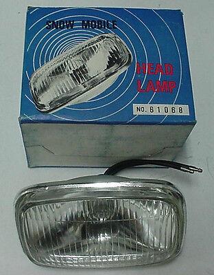 New Vintage Snowmobile Headlight Head Lamp 12V 45 Watt Ski Doo Sno Hobby  (B)