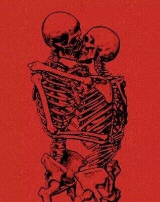 """3"""" Skeleton Romance Love Goth Horror Dark Skull Halloween Vinyl Cool"""