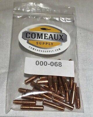 25 Contact Tips 000-068 .035 Miller M-152540 Hobart Mig Welding Gun Comeaux