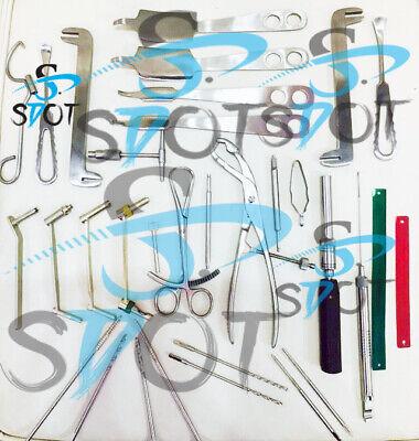 Large Fragment Stainless Steel Orthopedic Veterinary Instruments Set Sdot Inst