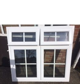 White pvcu window with Georgian Bar glass, A rated, ex display, cost £400 sell for £150.