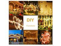 Solar Lights for Garden, 120 LEDs 12M 8 Lighting Modes Copper Wire - 2packs