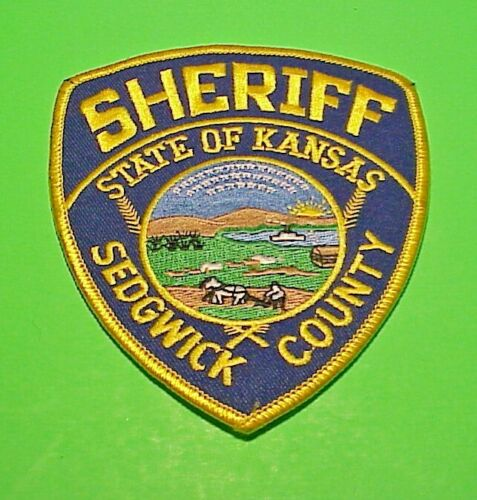 """SEDGWICK COUNTY  KANSAS  4 1/2""""  POLICE PATCH  FREE SHIPPING!!!"""