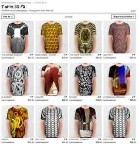 Original T-shirts with 3D FX photos