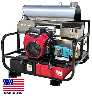 Pressure Washer Hot Water - Skid Mounted - 8 Gpm - 3000 Psi - 20 Hp Honda Gp