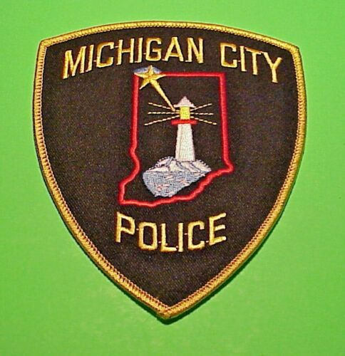 """MICHIGAN CITY  INDIANA  IN  ( LIGHTHOUSE )  5""""  POLICE PATCH  FREE SHIPPING!!!"""