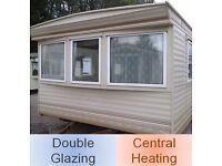 Static caravan 37 x 12 ft 2 bedroom caravan with double glazing and central heating