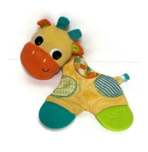 Bright Starts Giraffe Crinkle Teether Toy Baby Infant Lovey Washable M3357