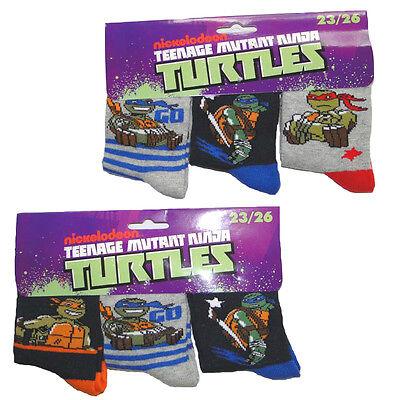Schildkröten Mutant Ninja Turtles (3'er Set Jungen Ninja Turtles Socken Strümpfe Kinder Mutant Turtle Schildkröte )