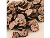 Wooden love table decorations