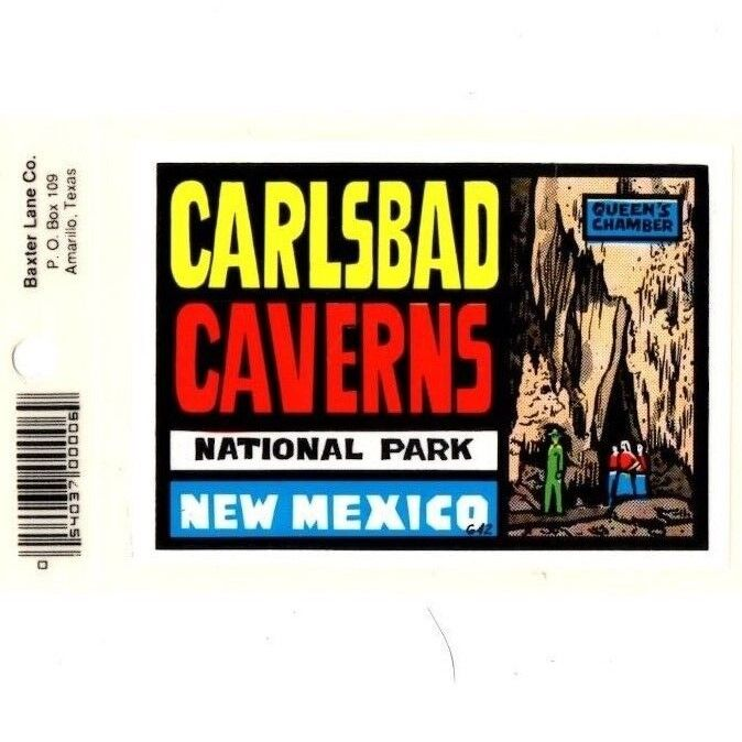 Lot of 12 Carlsbad Caverns, NM Souvenir Luggage Decals Stickers - New - Free S&H